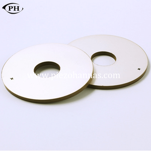 P82-35*16*5mm ring piezo bimorph actuator for distance probe