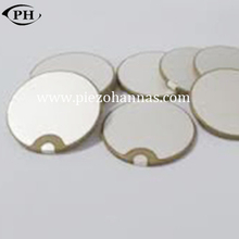 30mmx6.2mm brass piezo disc datasheet with P8 material
