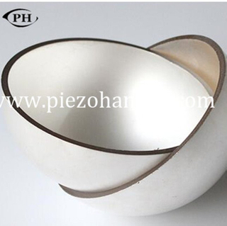 capacitive high temperature piezoceramic hemisphere for ocean project