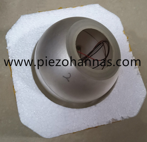 PZT5H Piezoelectric Hemisphere for Hydrophone Transducer