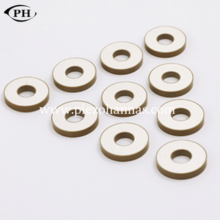 P82-13*5.3*2.2mm ring piezo bimorph actuator for ultrasonic welding