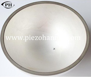electronic high temperature piezoceramic hemisphere for sonar transducer