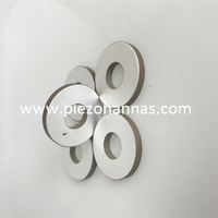 Poled Piezoelectric Ceramic Rings Pzt Ceramic Transducers