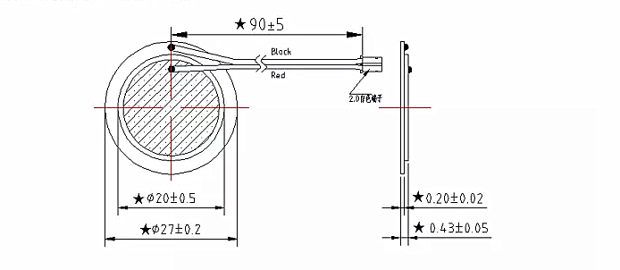 custom piezo bimorph piezo disc bender for bike reminding