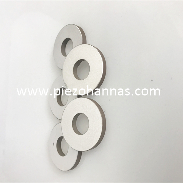 Silver Plating Rings Piezo Ceramic Ultrasonic Piezoelectric Transducer Ring